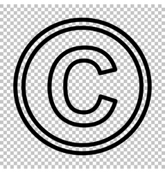 Copyright sign line icon vector