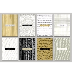 Creative template cards vector image vector image