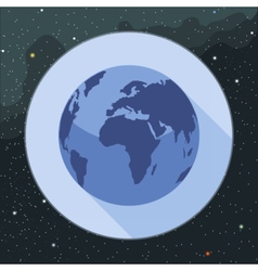 Digital planet earth icon vector image