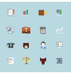 Finance exchange icons flat vector image vector image