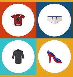 Flat icon clothes set of t-shirt uniform vector