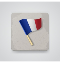 France flag icon vector image vector image