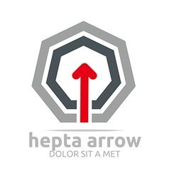 Hepta arrow design element symbol icon vector