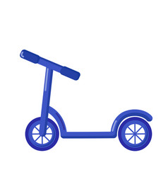 kick scooter icon cartoon style vector image vector image