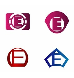 letter E logo template Abstract icon vector image vector image