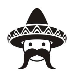 Man with sombrero vector