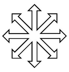 Maximize arrows outline icon vector