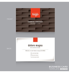 Modern brown business card name card template vector
