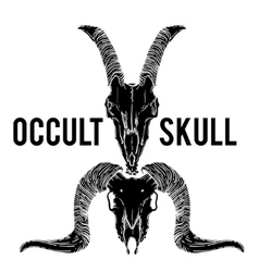 Ram and goat skull occult vector