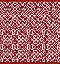 Red damask pattern vector