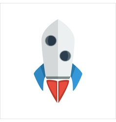 Rocket launch icon vector