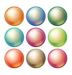 round glass sphere set opaque multicolored vector image vector image