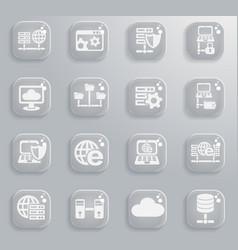Server icon set vector