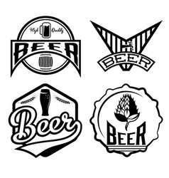 set of beer vintage labels vector image vector image