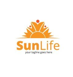 Sun life logo vector