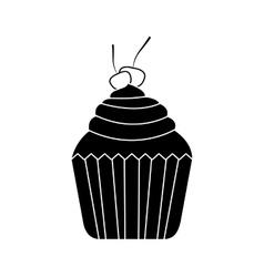 Sweet cupcake dessert vector
