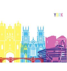 york skyline pop vector image