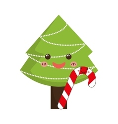 Pine tree of merry christmas design vector