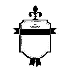 embellished emblem or label icon image vector image