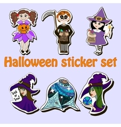 Halloween sticker set vector