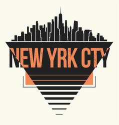 New york city graphic t-shirt design tee print vector
