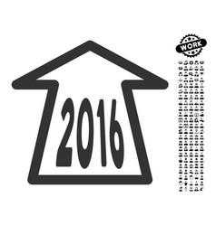 2016 ahead arrow icon with professional bonus vector