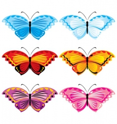 Set butterfly vector