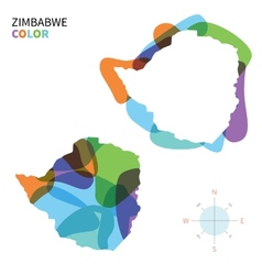 Abstract color map of zimbabwe vector