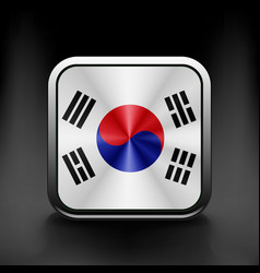 South korea flag drawing lag sign symbol vector