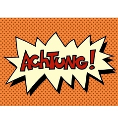 Achtung warning german language vector