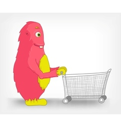 Funny Monster Touch Screen vector image