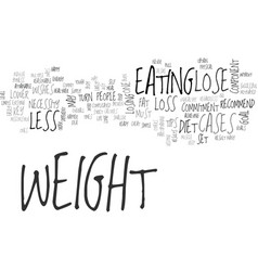 a few simple tips to lose weight text word cloud vector image