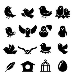 Bird silhouette icon vector