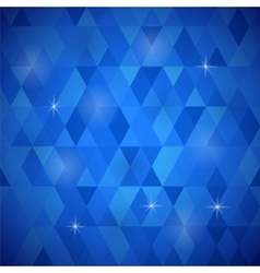 Blue Geometric Retro Mosaic Pattern vector image vector image