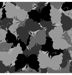 Butterfly camouflage seamless pattern vector image vector image