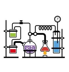 Chemistry laboratory infographic vector