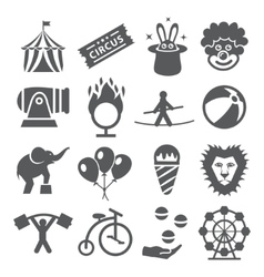 Circus Icons vector image vector image