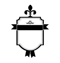 embellished emblem or label icon image vector image