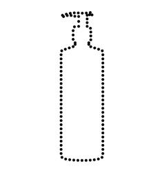 Gel foam or liquid soap vector