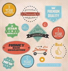 guaranteed bagge and labels vector image