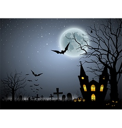 Halloween scary background vector image vector image