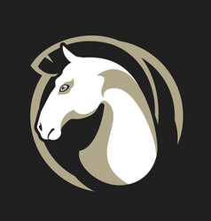 Horse head sign vector