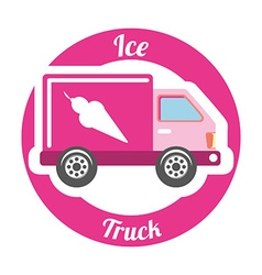 ice truck vector image