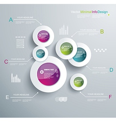 Infographic elements it industry design vector