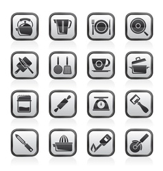 kitchen gadgets and equipment icons vector image vector image
