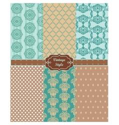 Lace ornament pattern set vector