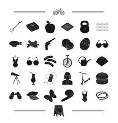 Meal easter and other web icon in black style vector