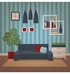 Modern home interior of living room vector