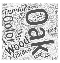 Oak garden furniture word cloud concept vector