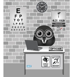 Optician consulting room vector image